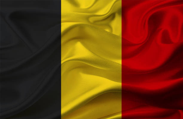 Agitant le drapeau de la Belgique - Photo