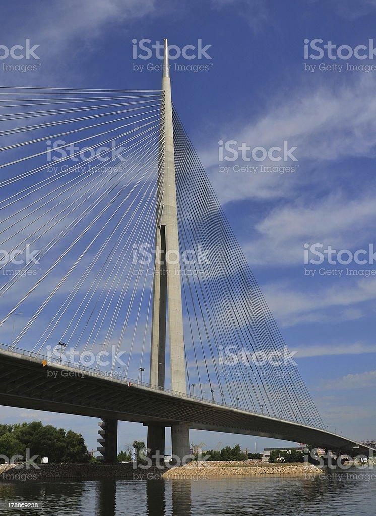 Belgrade bridges royalty-free stock photo