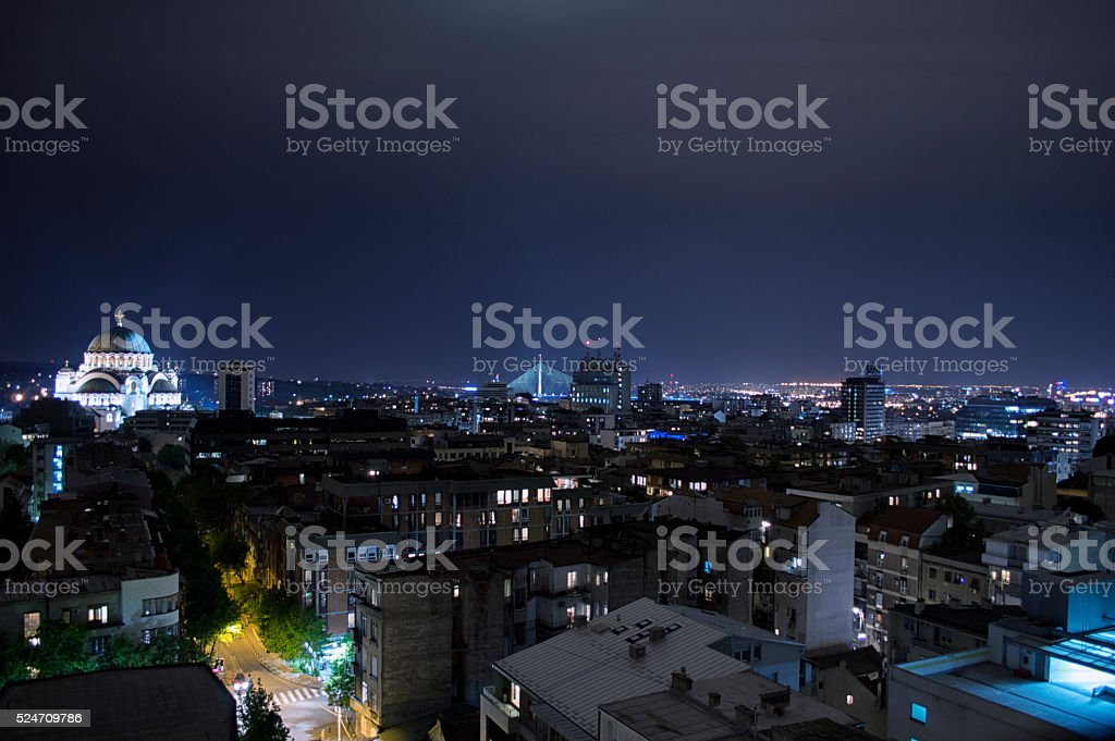 Belgrade par nuit - Photo