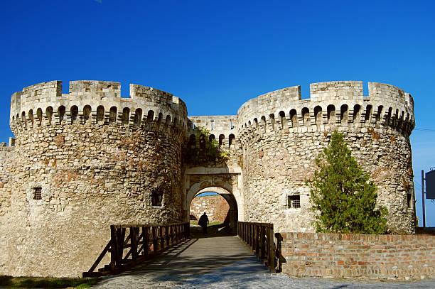 belgrade castle - belgrade serbia stock photos and pictures