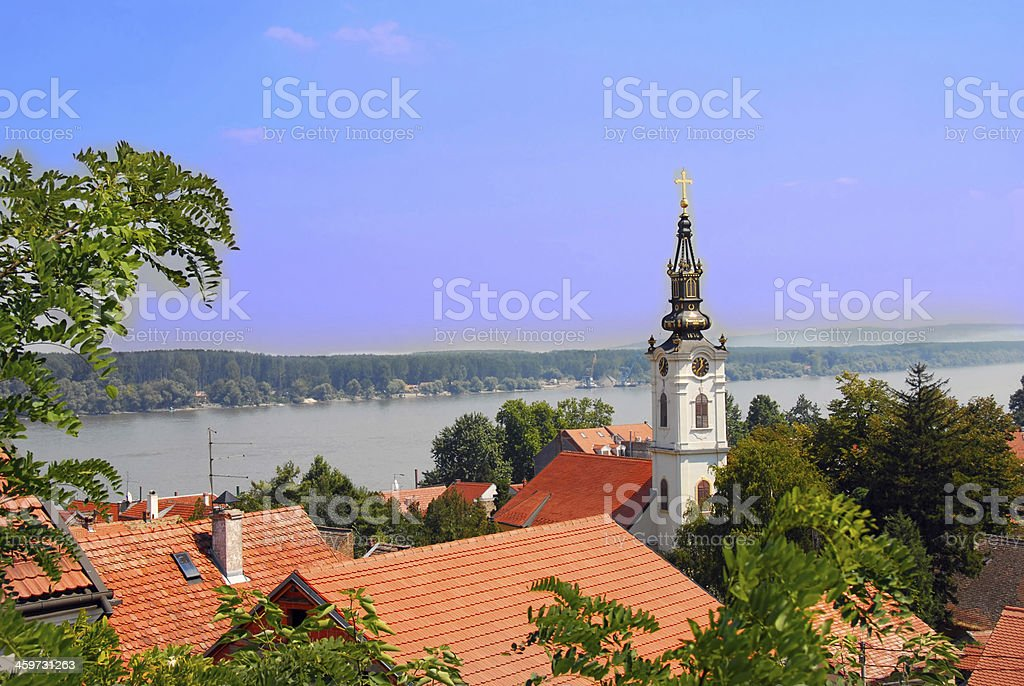 Belgrade cityscape stock photo