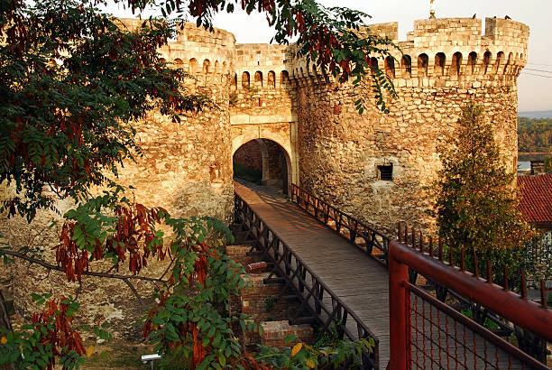 Belgrade fortress gate architecture details of Kalemegdan fortress in Belgrade, Zindan gate belgrade serbia stock pictures, royalty-free photos & images