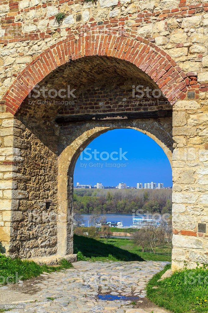 Belgrade Fortress in Serbia, Kalemegdan stock photo