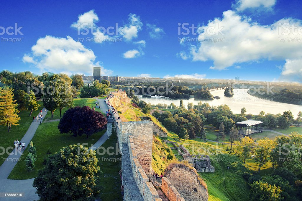 Belgrade panorama stock photo
