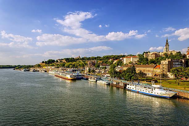 Belgrade Belgrade from river Sava belgrade serbia stock pictures, royalty-free photos & images