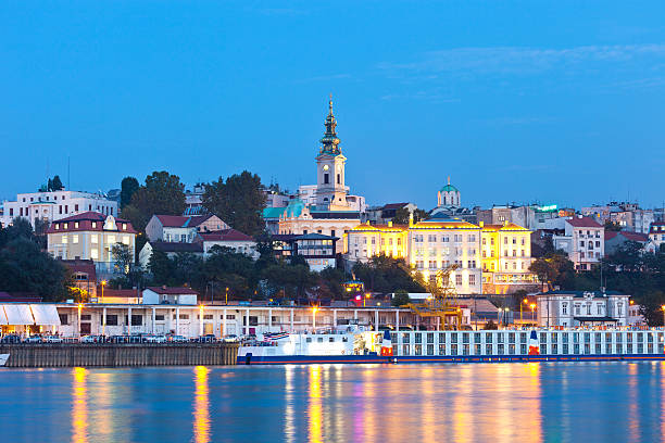 Belgrade, Serbia View Of The Capital Of Serbia With The Danube serbia stock pictures, royalty-free photos & images