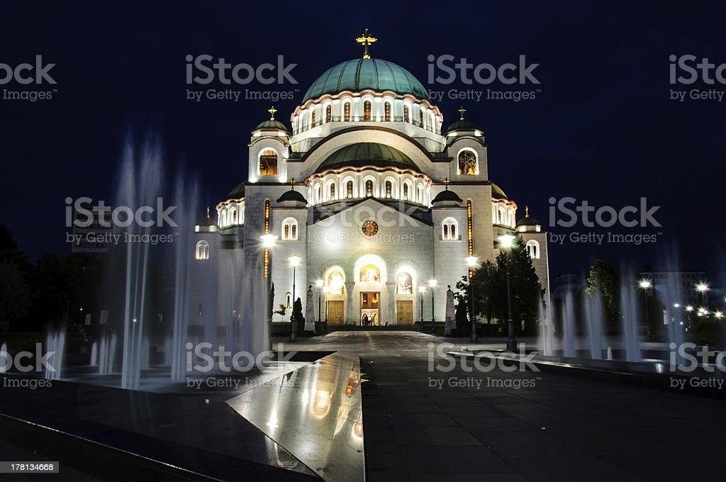 Belgrade tample royalty-free stock photo
