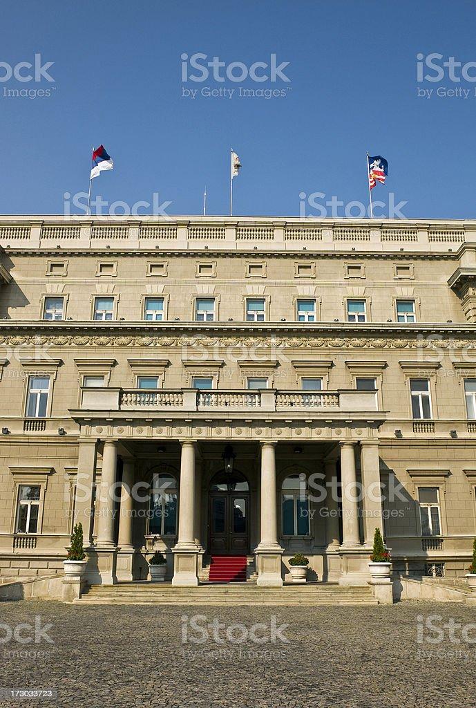 Belgrade's Official Mayor House royalty-free stock photo