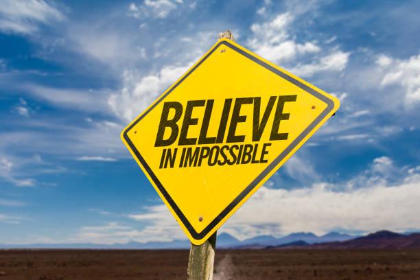 glauben an unmöglich - schlechte zitate stock-fotos und bilder