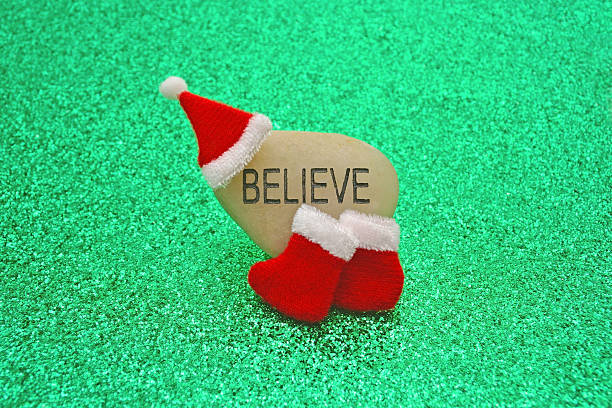 Believe in Santa Claus Concept Image stock photo