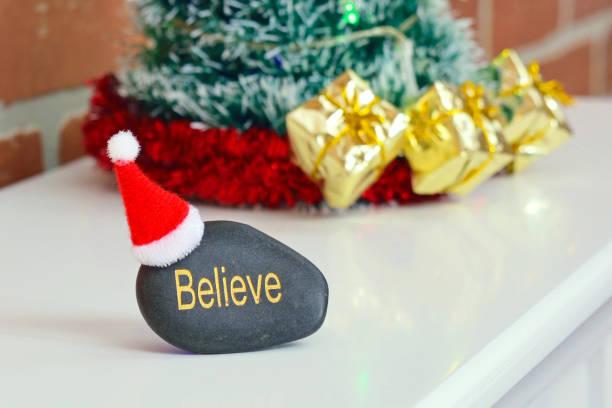 Believe in Santa stock photo