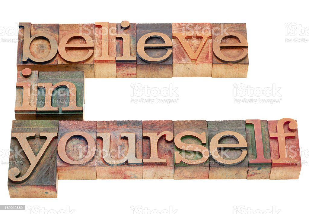 believe in yourself royalty-free stock photo