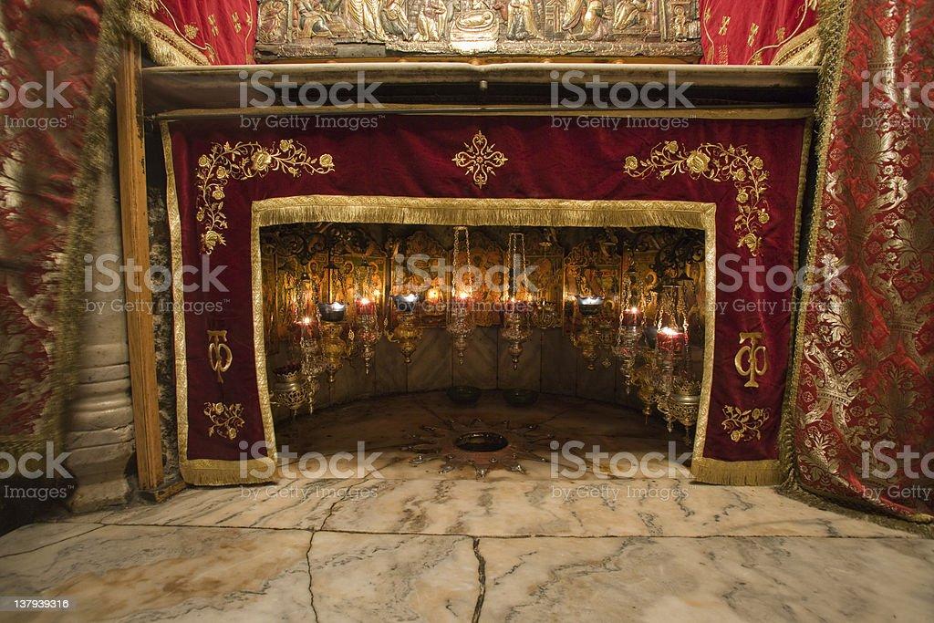 Believed Birthplace of Jesus, Bethlehem, West Bank stock photo