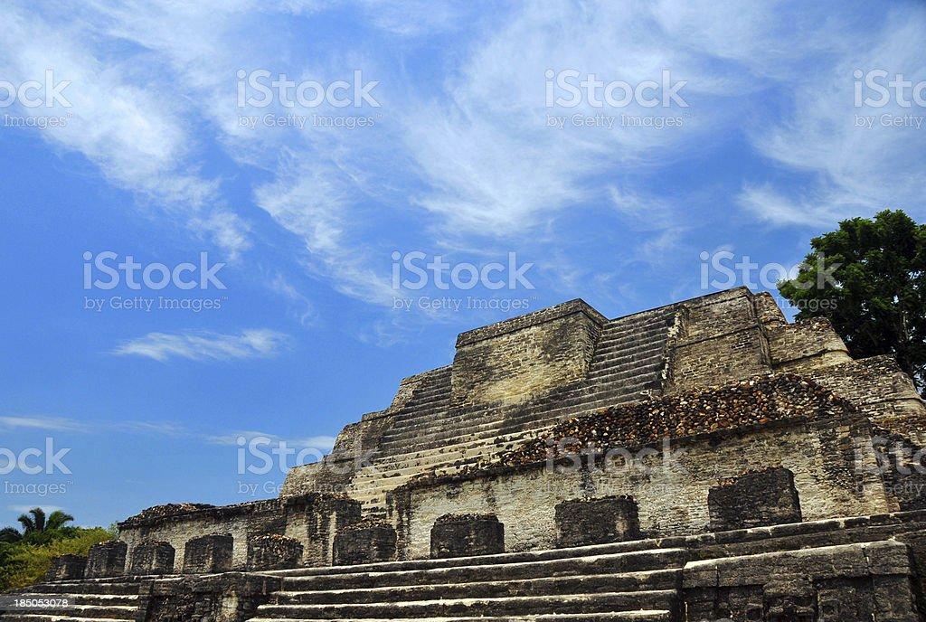 Belize, Altun Ha, Temple of the Masonry Altars stock photo