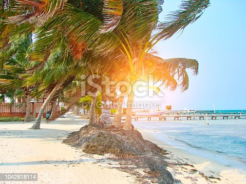 Belize, Caye Caulker streets