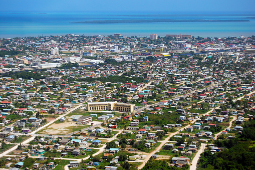 Belize City Aerial Photo Stock Photo - Download Image Now