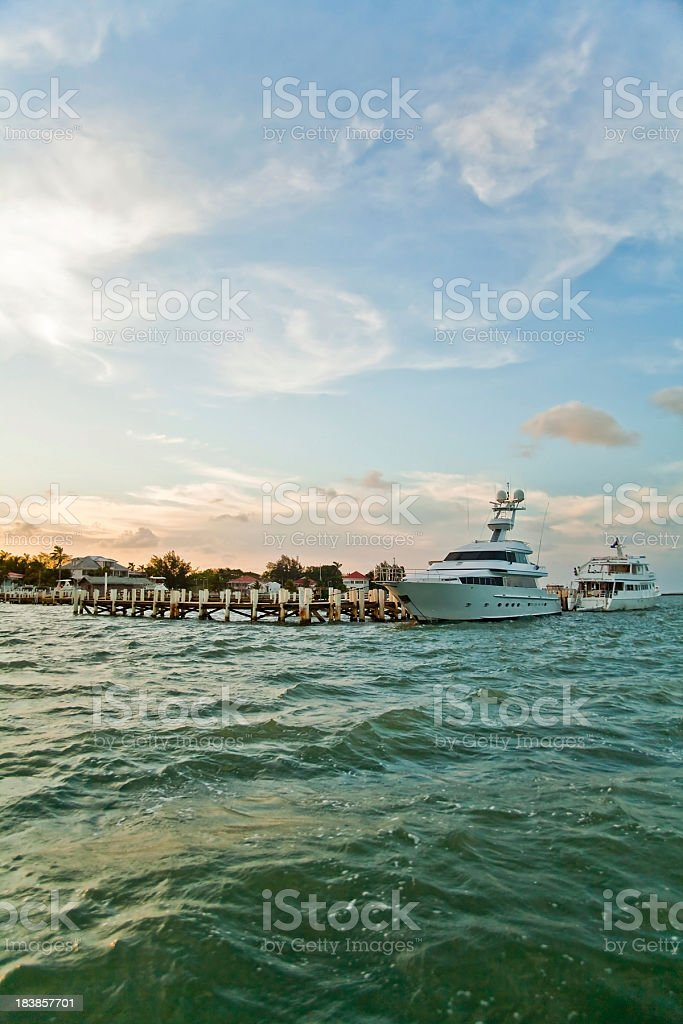 Belize City Harbour royalty-free stock photo