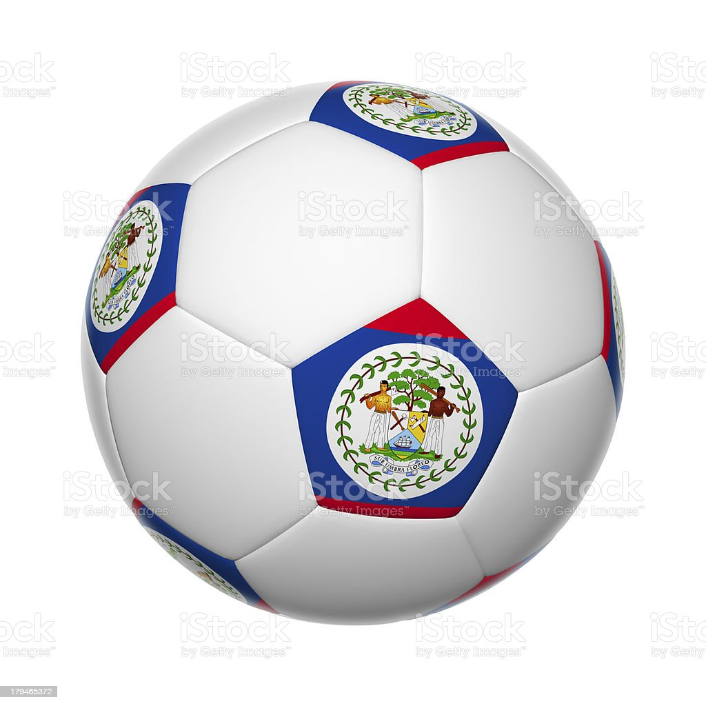 Belizean soccer ball stock photo