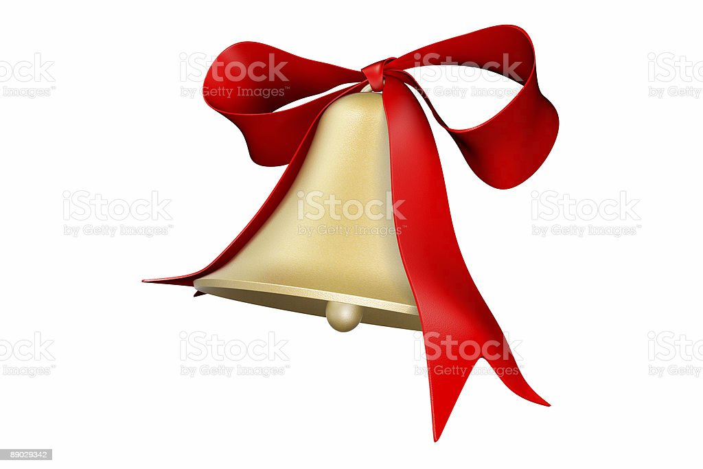bell and bow royalty-free stock photo