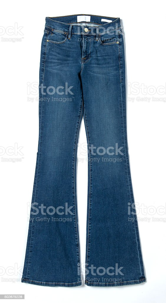 Bell Bottom Jeans stock photo