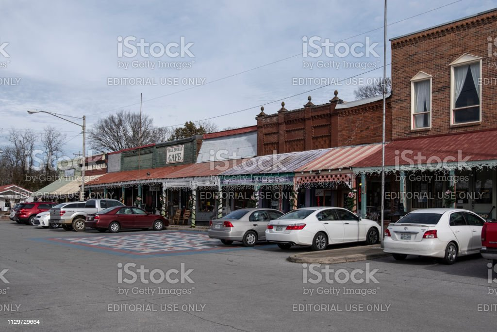 Bell Buckle Tennessee Shops stock photo