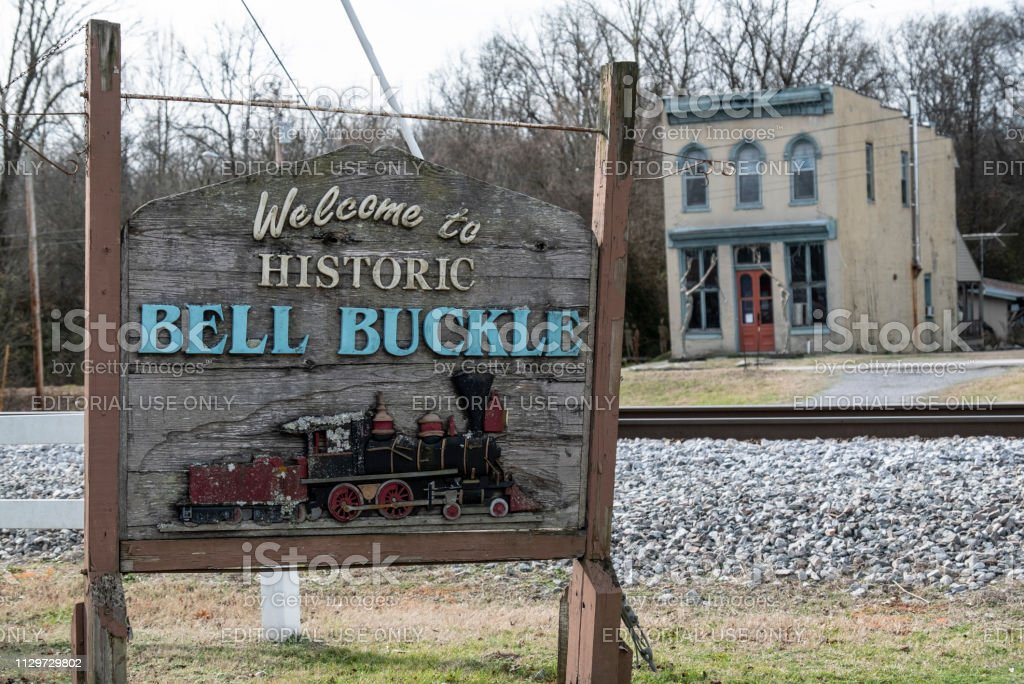 Bell Buckle, Tennessee Sign stock photo