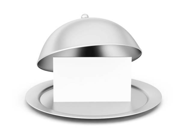glockenkarten-service tablett-menü-vorlage - chrome menü stock-fotos und bilder