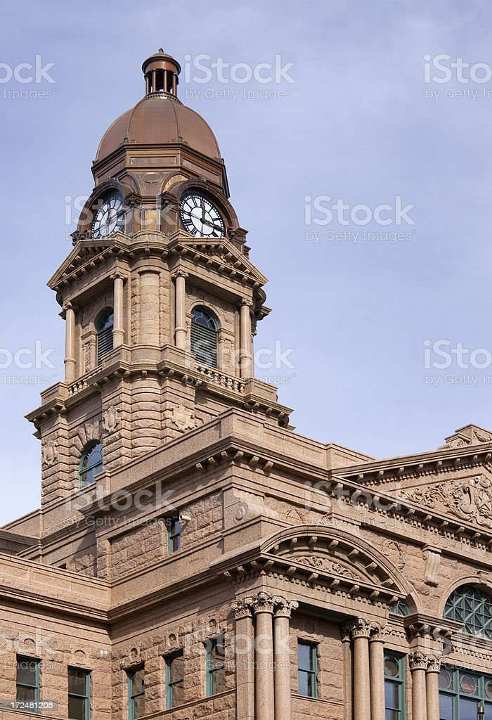 Bell/ Clock Tower, Tarrant County Courthouse in Fort Worth, Texas royalty-free stock photo