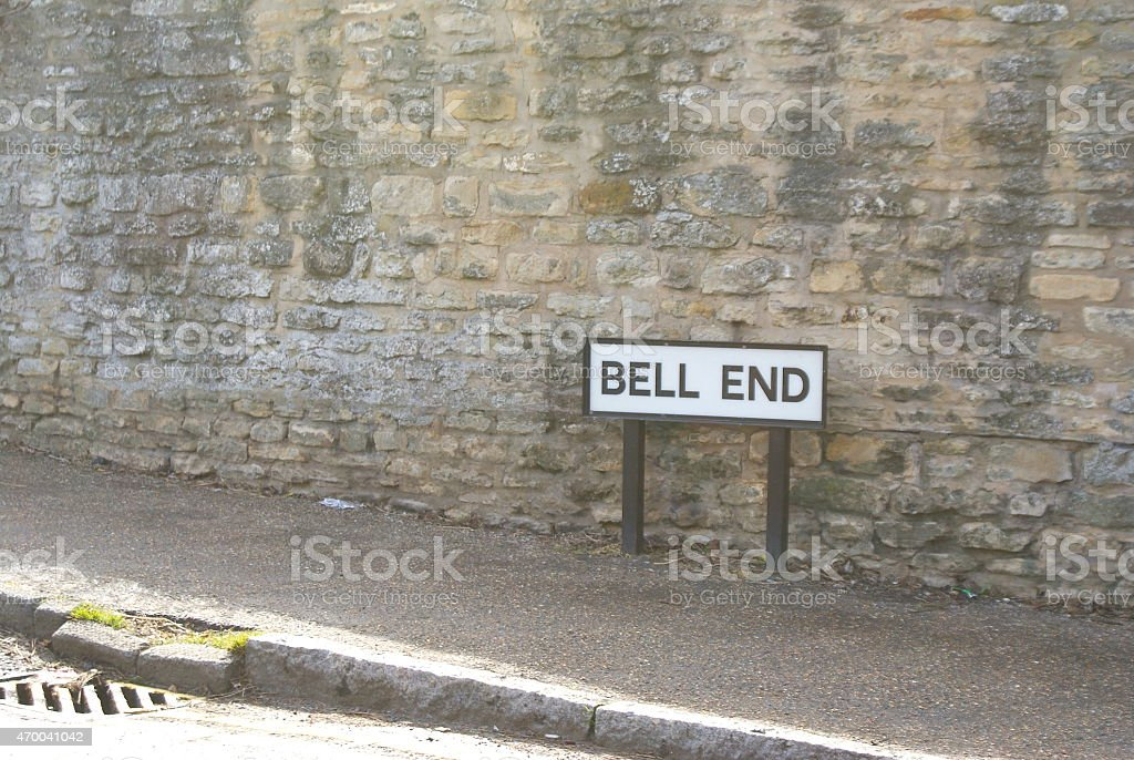 Bell End Road Street Sign stock photo