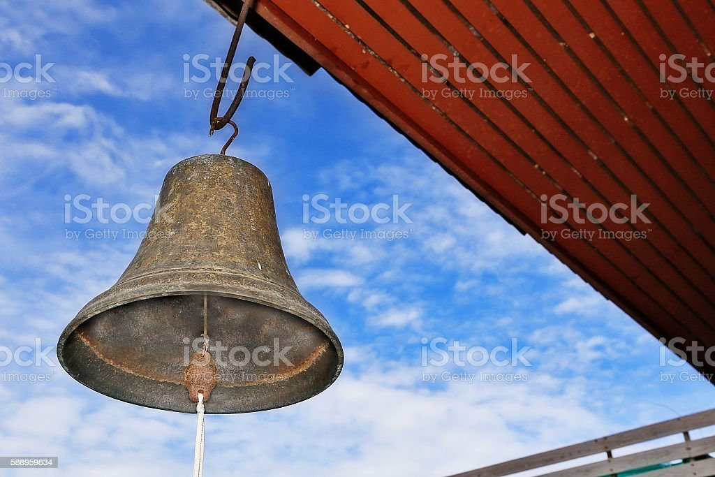 Bell hang on roof stock photo