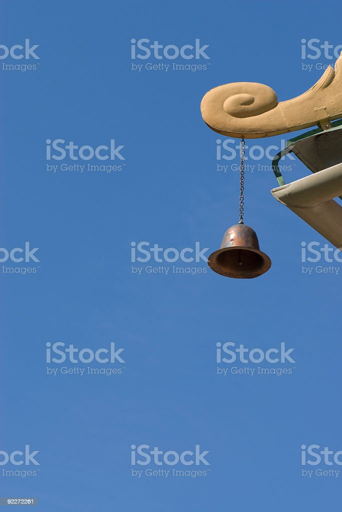 Bell hanging at the Chinese pagoda stock photo