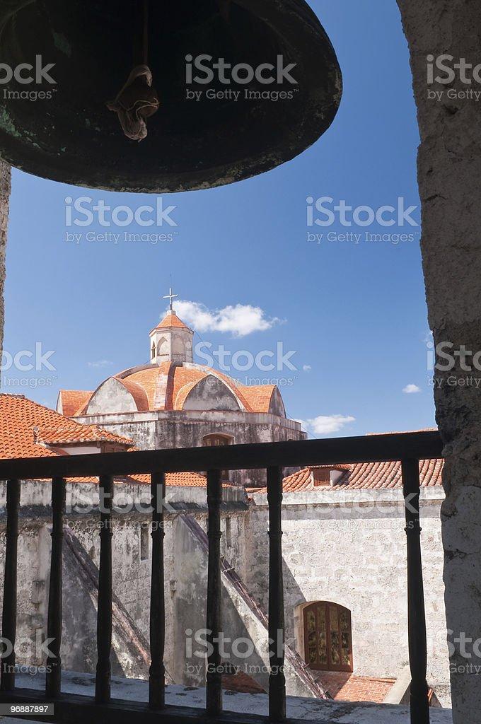 Bell im San Cristobal tower der Kathedrale, Havanna, Kuba Lizenzfreies stock-foto
