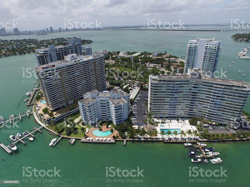 Bell Isle Miami Beach stock photo