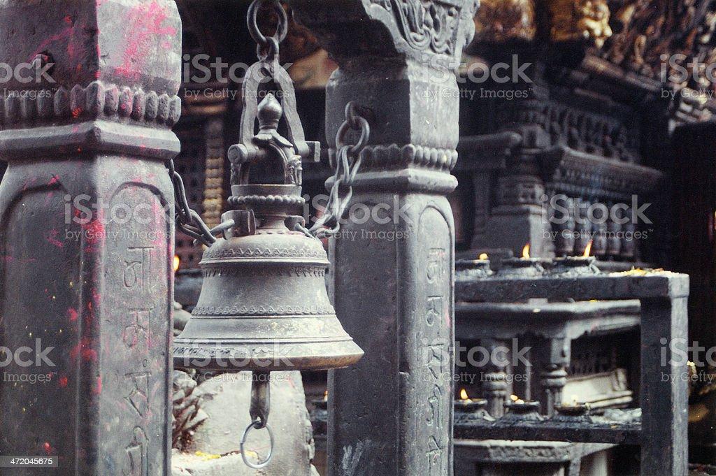Bell of a Pagoda, Kathmandu, Nepal royalty-free stock photo