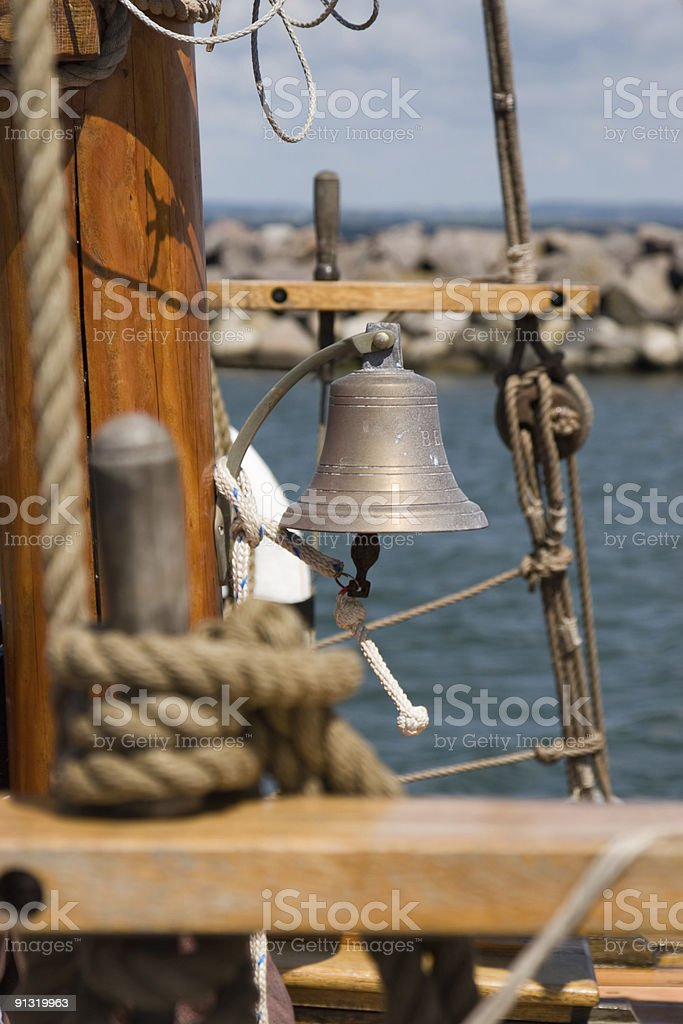 Bell of an old sailing ship royalty-free stock photo
