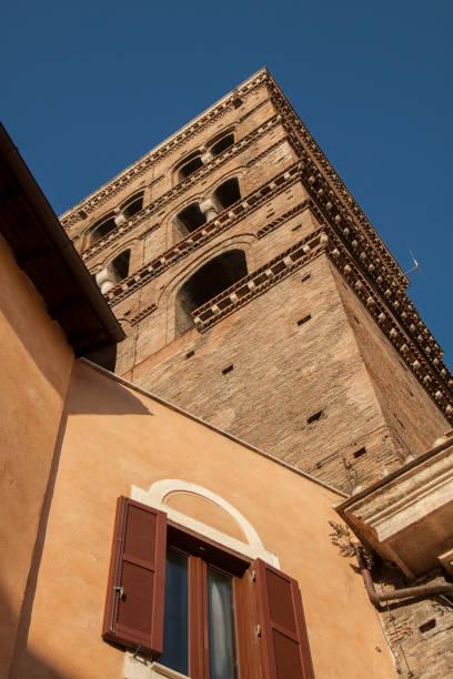 bell of church in tivoli (italy) - batalina italy стоковые фото и изображения