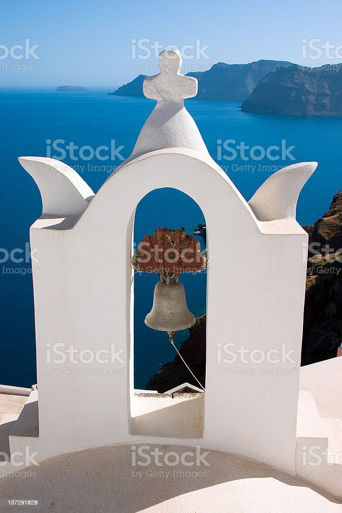 Bell of Santorini royalty-free stock photo