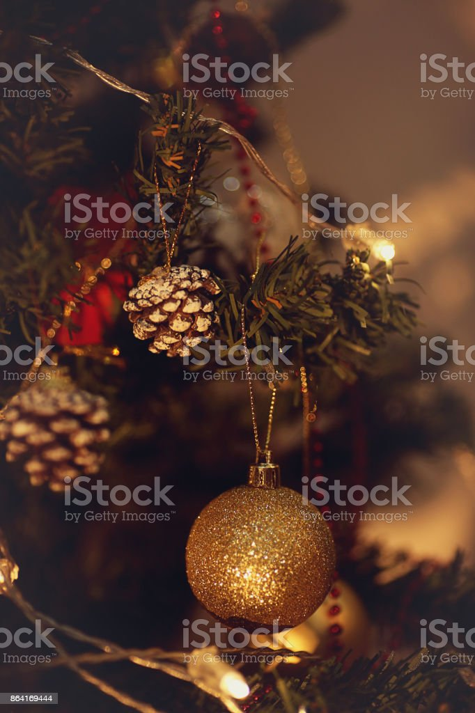 Bell on a Christmas Tree royalty-free stock photo