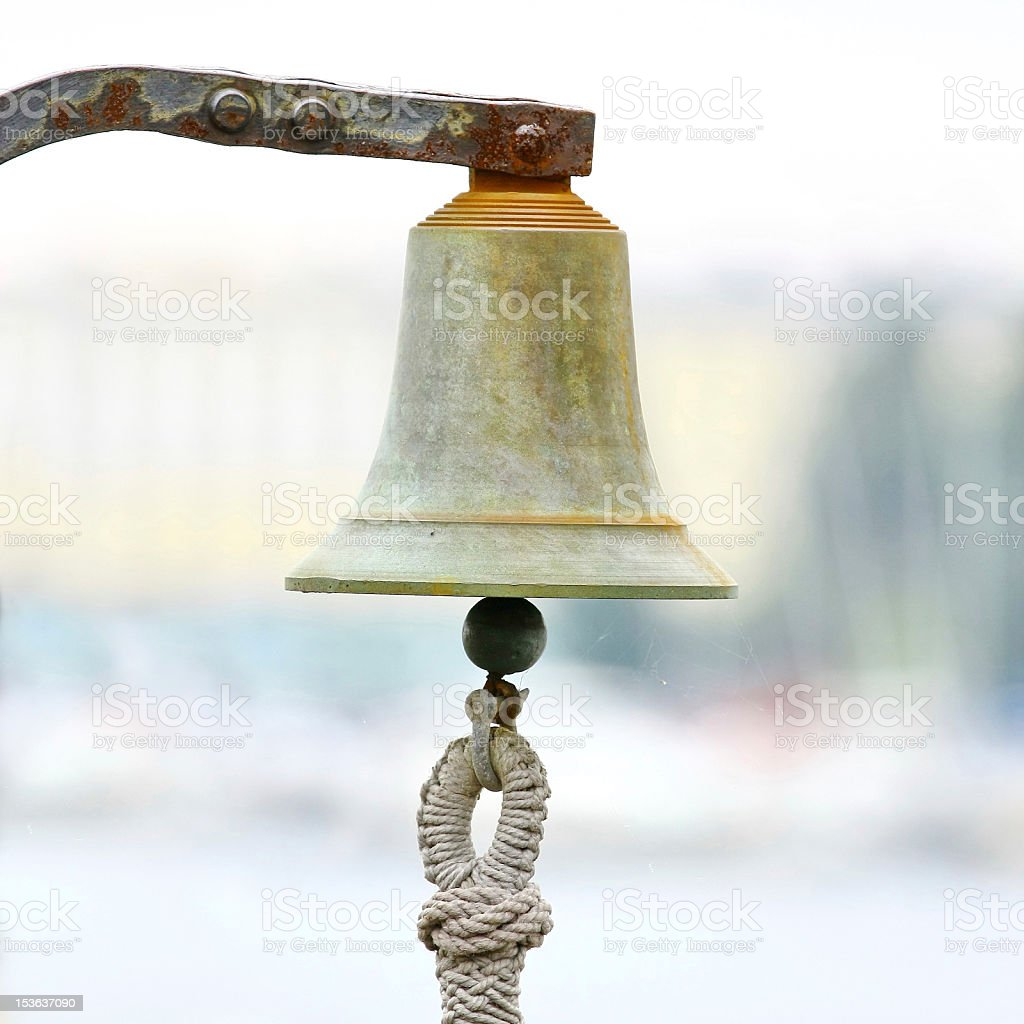 Bell on sailing ship royalty-free stock photo