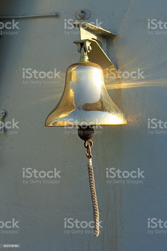 Bell on the vessel stock photo
