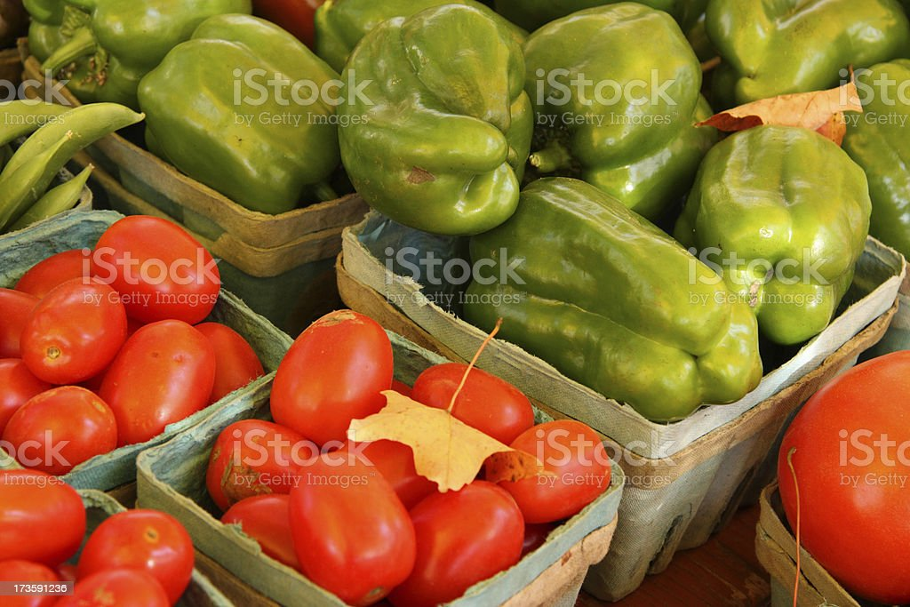 Bell Pepper and Tomatoes royalty-free stock photo
