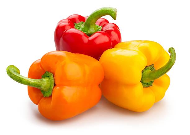 bell pepper bell pepper isolated yellow bell pepper stock pictures, royalty-free photos & images