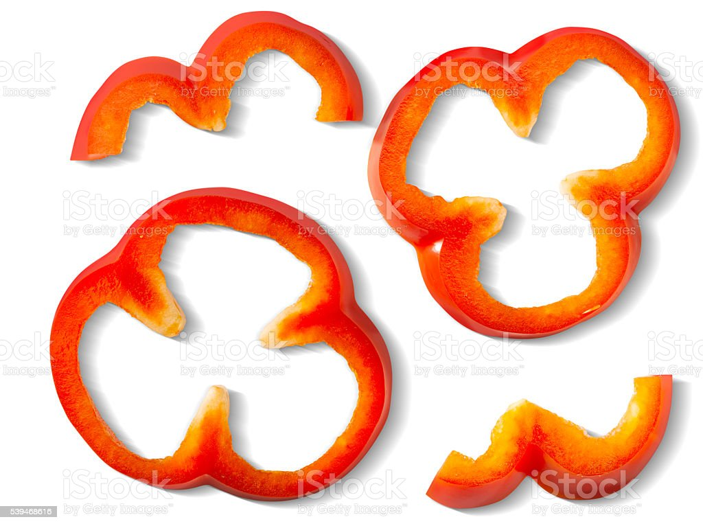 Bell pepper pieces stock photo