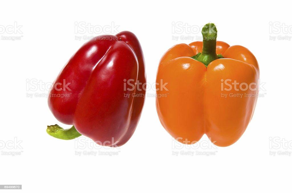 bell peppers isolated royaltyfri bildbanksbilder