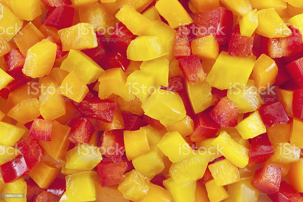 Bell Peppers Slices background royalty-free stock photo