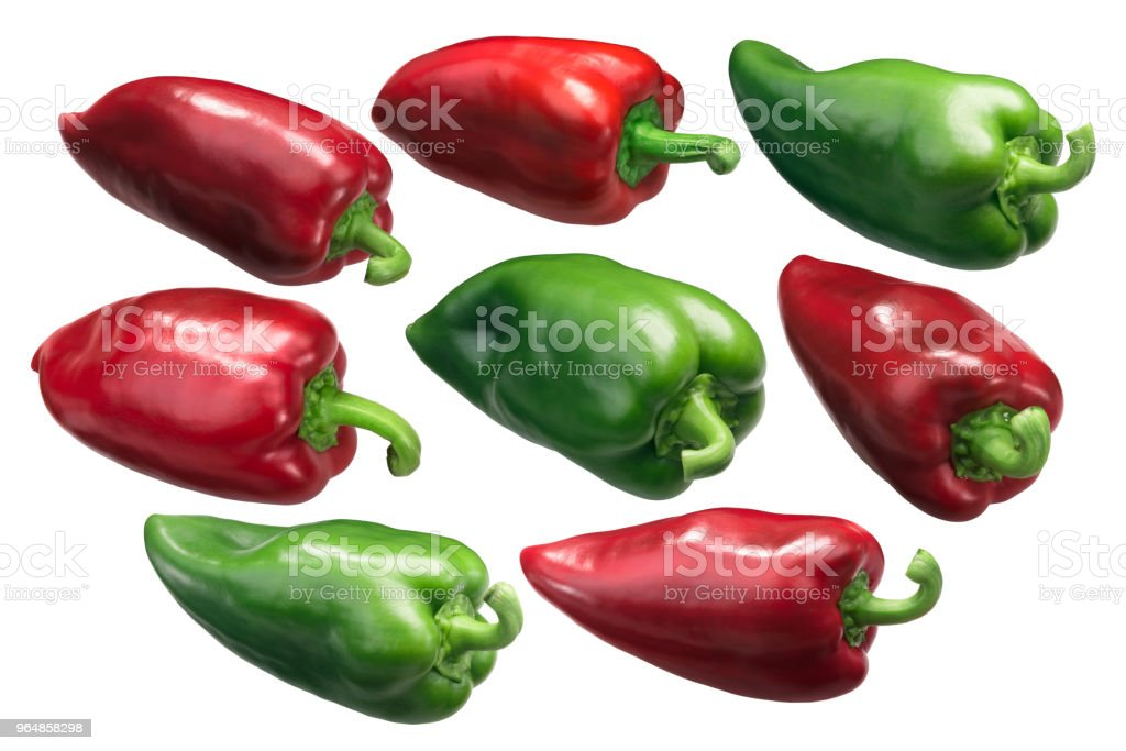 Bell peppers Grueso de Plaza, whole royalty-free stock photo