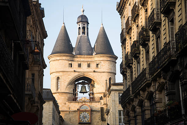 Grosse cloche Grosse cloche, one of the most famous landmarks in Bordeaux, France central europe stock pictures, royalty-free photos & images