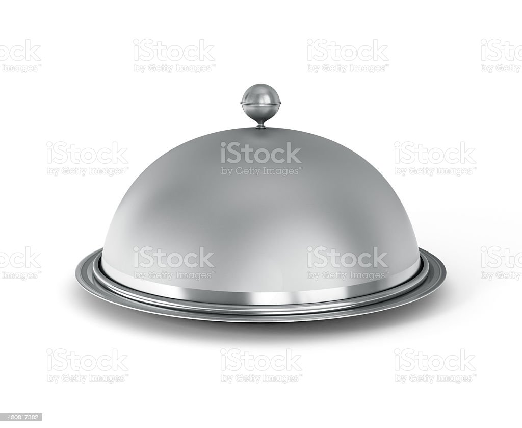 Restaurant cloche stock photo