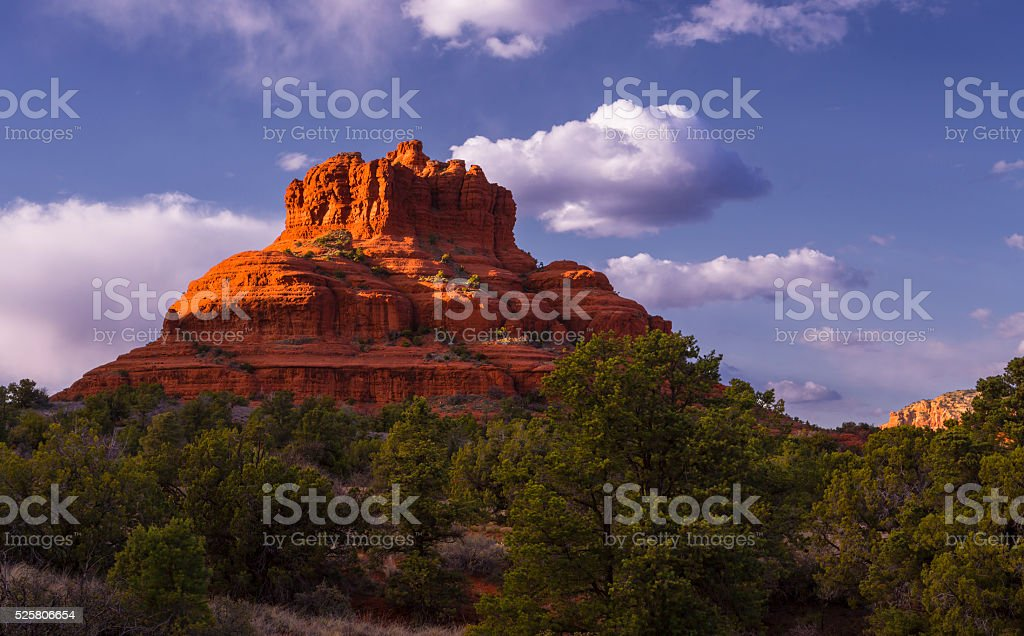 Bell Rock in Sedona stock photo