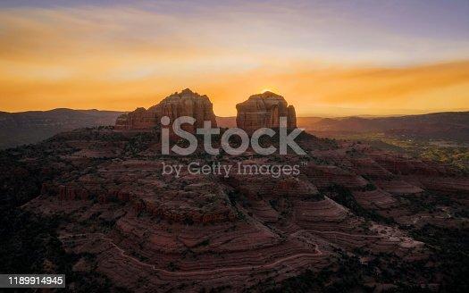 Bell Rock near Sedona at sunset